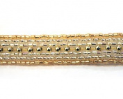 Simple Beaded Band By Shine Trim - Gold/silver