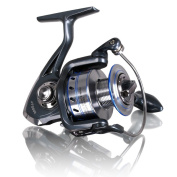 AiSung Smooth Baitcasting Spinning Fishing Reels with 5.5:1 Gear Ratio Metal Body Collapsible Handle12+1BB for Freshwater Saltwater Fishing