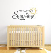 You Are My Sunshine Nursery Quote Wall Decal - Nursery Wall Decals - Baby Nursery Wall Decor Vinyl Wall Art