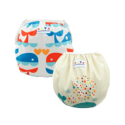 Alva Baby 2pcs Pack One Size Reuseable Washable Swim Nappies ZSWD02-04