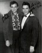 Johnny Cash & Elvis Presley Penned 8 X 10 Photo