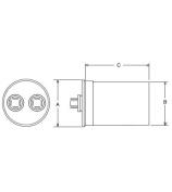 Rheem/Protech 43-25136-17 - Capacitor - 70/370 Single Round - Rheem/Ru