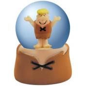 The Flintstones Barney Looking Happy with Hands up Brown Water Globe