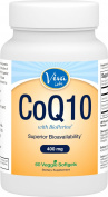 Viva Labs High Absorption CoQ10 with BioPerine®, 400mg, 60 Veggie Softgels