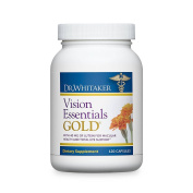 Dr. Whitaker's Vision Essentials Gold Delivers Premium Eye Nourishment and Support with 40 Mg Lutein Plus 16 Vision Supportive Nutrients, 120 capsules