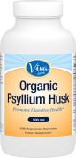 Viva Labs Organic Psyllium Husk, 500mg, 500 Vegetarian Capsules - The BEST Fibre Supplement for Optimal Intestinal Health