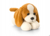 Keel Toys Laying Dogs - 15cm Laying Down Dog - BEAGLE