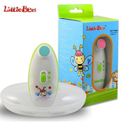 Little Bees Electric Baby Nail Trimmer - Safe and Gentle for Babies - Battery Operated and Easy and Effective for Delicate Baby Nails - Two Speed Options - Four Pads Depending on the Baby's Age