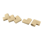 sourcingmap Home Safety Furniture Corner Edge Guard Protector Cushion 5 Pcs Beige