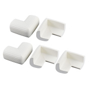 sourcingmap Strip Design Cushion Table Corner Edge Guard Protector 5 Pcs White
