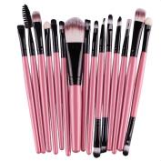 Koly Pro 15 pcs Make Up Sets Soft Eye Shadow Foundation Eyebrow Lip Makeup Brushes