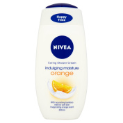 Nivea Indulging Mositure Orange Shower Gel 250 ml - Pack of 6