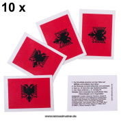 10 x Albania Fan Tattoo flags - Euro 2016 Fan - Albania Tattoos