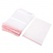 100Pcs 16x24cm Clear 1MIL Poly Plastic Reclosable Zip Lock Ziplock Bag
