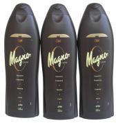 3 Bottles of Magno Shower Gel 18.3oz./550ml by Magno