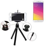 Smartphone Tripod / mobile stand / tripod for Oppo F1 Plus, aluminium mobile phone holder - K-S-Trade
