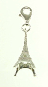 Kala-isbijoux ladies'Eiffel tower Charm sterling silver 925/1000 with carabiner height (3 cm) 1 inch)-women