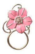 NEW Gorgeous Pink Crystal Flower Eye Glasses Spectacle Hanger Brooch Pin Holder