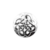 Heritage of Scotland Silver Plated Round Celtic Brooch