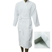 Men Women Waffle Bathrobe Cotton Plus Free Slippers Unisex Towelling Gown Large Size Guest Hotel