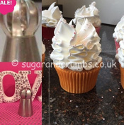 Piping Nozzle Cake Decorating Supply - Oriental Ruffle Stainless Steel Cupcake Decoration Tool