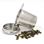Urban Kitchen Tea Infuser and Strainer - Stainless Steel Basket for Loose Leaf Tea - Single Cup Steeped Tea - Craft Earl Grey, English or Weight Loss Tea