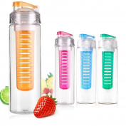 ARSUK 700ml Flip Lid Bottle Fruit Infusing Infuser Water Bottle BPA Free sports bottle