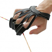 IRQ 3 Finger Soft Archery Protector Glove Guard with Wrist Strap Protect Pull bow Hunting Targeting Practise Shooting