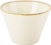 """NEW Seasons Range of rustic inspired tableware by Porcelite ***SET OF 4 Oatmeal Conic Bowl 11.5cm/4.5""""/40cl410ml ***"""