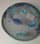 Blue Raffia Food Cover is beautifully designed by Gisela Graham.