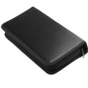 80Pcs Cd Dvd Vcd Discs Storage Wallet Organiser Bag Home Case Portable Black Holder
