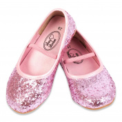 Girls Pink GLITTER PARTY / Fancy Dress SHOES - UK Size 1.5 EU 34 - Lucy Locket