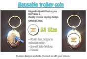 Ginger And Proud - Stylized Text Design on Shopping Trolley Keyring - Token