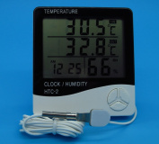 Digital LCD Thermometer Hygrometer Electronic HTC-2 Temperature Humidity