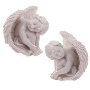 White Cherub Resting Head on Knees 6cm