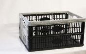 1 x Plastic Folding Storage Crate Box 32Lt Stackable