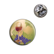 Wine Glass and Grapes Lapel Hat Tie Pin Tack