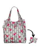 Re-Uz Lifestyle Shopper Foldable Reusable Shopping Grocery Bag - Pink Humming Bird