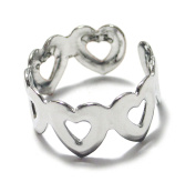 Linked Heart Ring