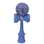 1x Safety Crack Pattern Paint Toy Wooden Kendama Wooden Games Kids Toy Blue