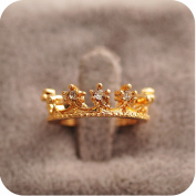 . Gold Crown Ring