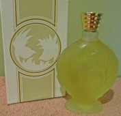 "Avon ""Love Song"" Frosted Glass Art Deco Decanter Skin So Soft Bath Oil 180ml Vintage"