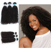 Yonna Top Quality 3 Bundles Brazilian Virgin Kinky Curly, Natural Colour Raw Unprocessed 100% Human Hair Virgin Loose Wave Hair Weave Mixed Size6 -100cm