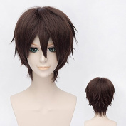 Coolsky 30cm Short Dark Brown Wig Cosplay Wig Role Play Party Costume Halloween Nature Beauty and Romantic