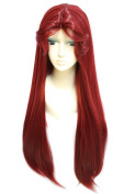 Anogol Women's Teen Titans Starfire Wig for Cosplay Party Fancy Dress Hair Wigs DM-934