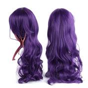 X & Y ANGEL Long Curly Waves Wig Cosplay Heat Resistant Spiral Costume Wigs Purple