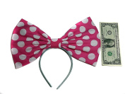 """Giant Extra Large Hair Bow Collection- Red Polka Dot """"Minnie Mouse"""" Inspired Hair Bows- Red- Black- Or Pink- Rockabilly, Pin Up, Retro, cosplay"""