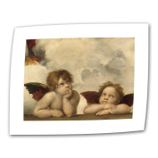 Art Wall Cherubs by Raphael 36cm by 46cm Rolled Canvas with 5.1cm Accent Border