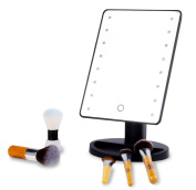 16 LED Makeup Mirror with Lights and Tray - Hollywood Backstage Portable Tabletop Vanity Mirror