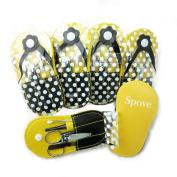 Spove Shoe Polka Dot Flip Flop Design Manicure Kit Shape Personal Care Manicure Set pack of 6 Yellow